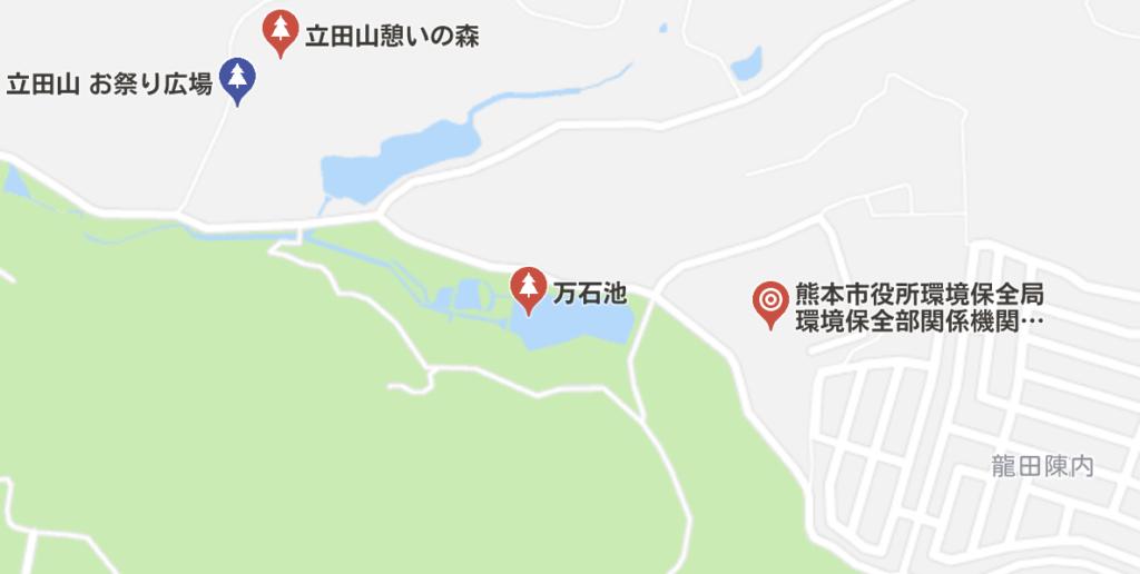 立田山の見取り図