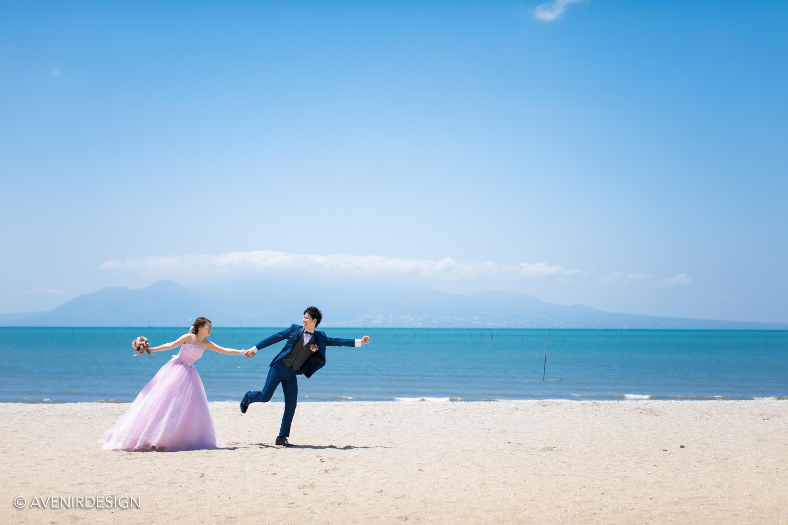 玉名市|鍋松原海水浴場での前撮り写真