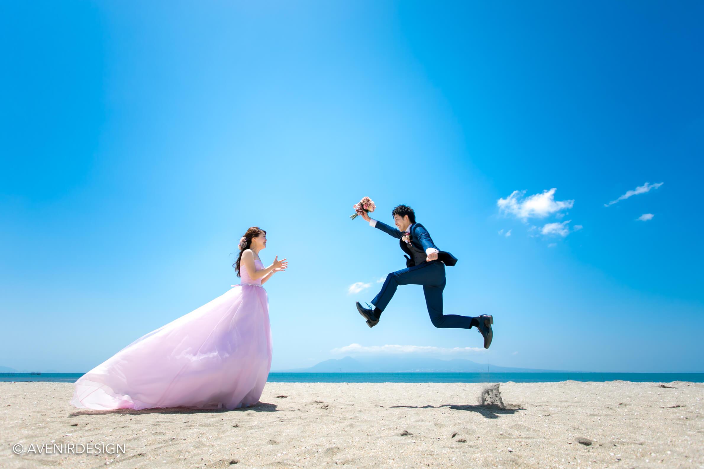 【熊本】玉名で海と砂浜がキレイな前撮りスポット|鍋松原海水浴場