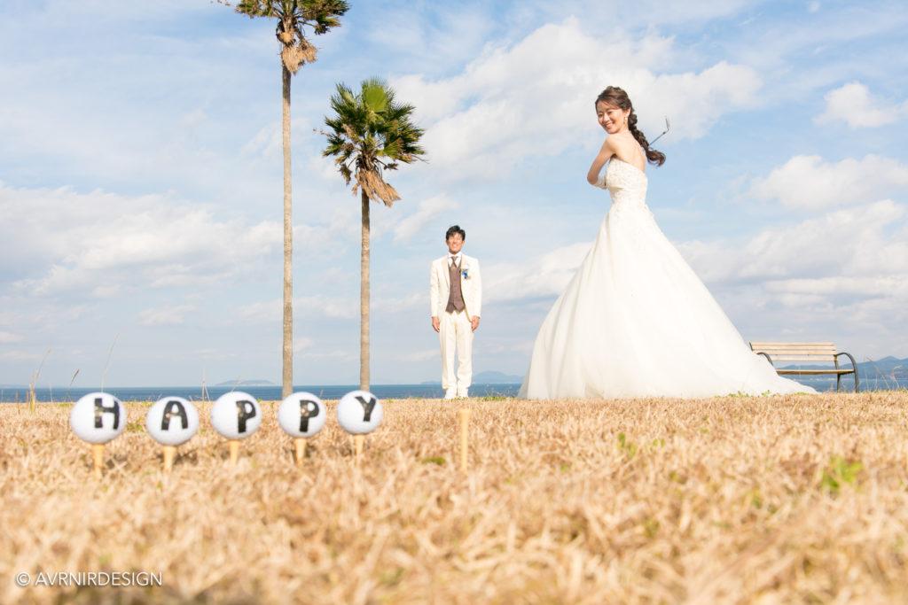 天草|ウェディングドレスと小物撮影|前撮り