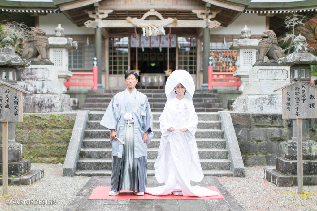 天草で撮影した前撮り写真|白無垢で神社