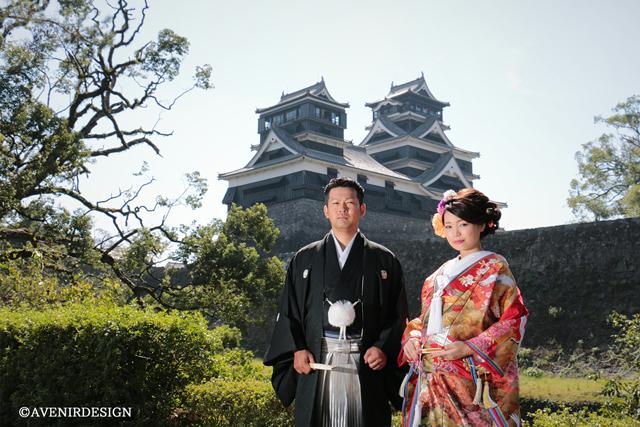 熊本城加藤神社で和装前撮り