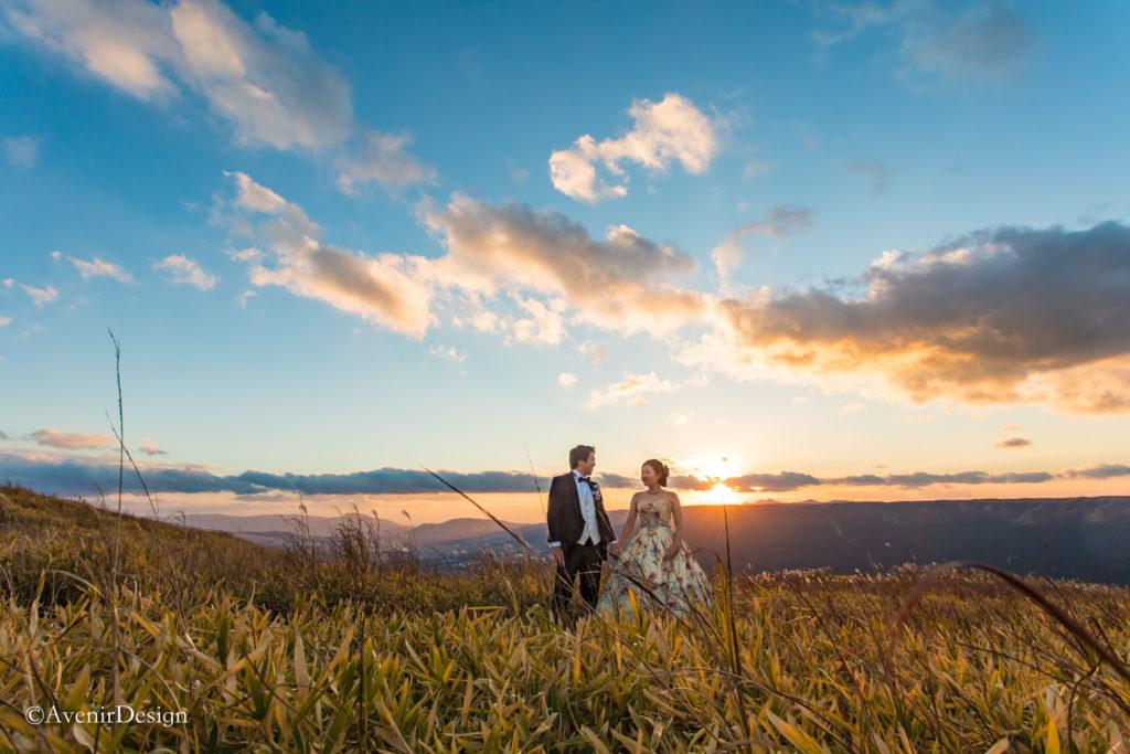 結婚式前撮りロケーションフォト|熊本県阿蘇