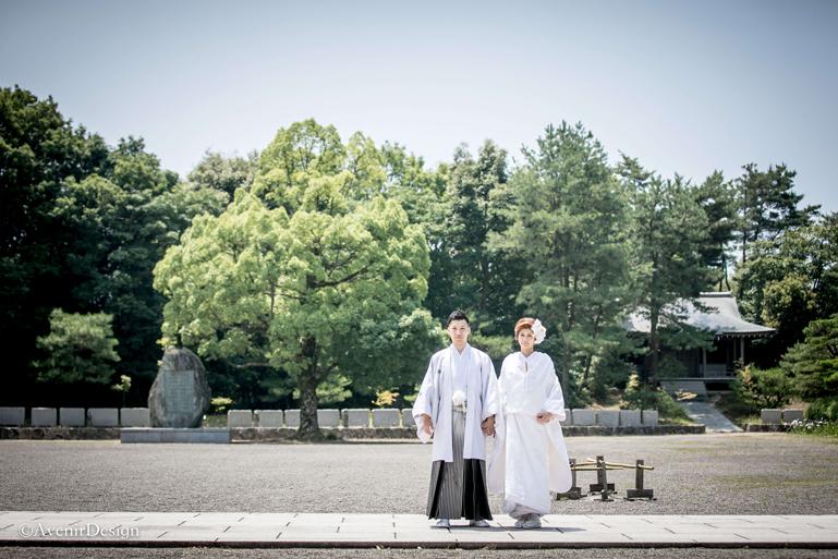 玉名の奥之院|白無垢の前撮り写真