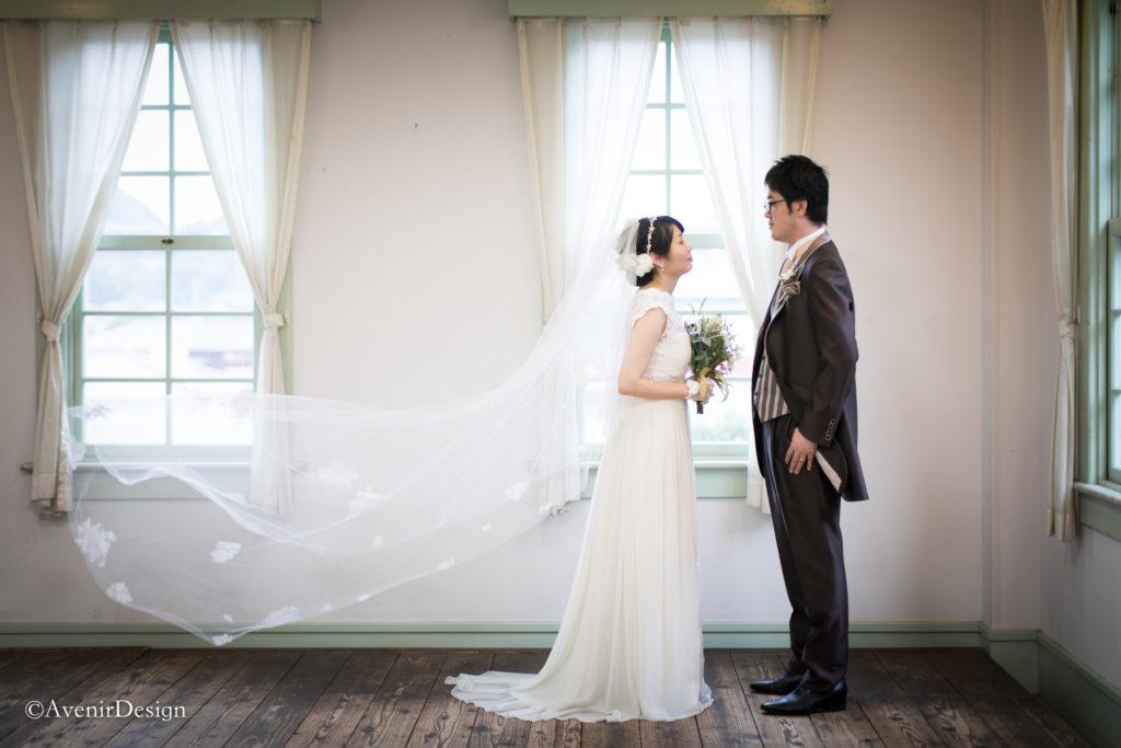 ウェディングドレスの前撮り写真|三角西港