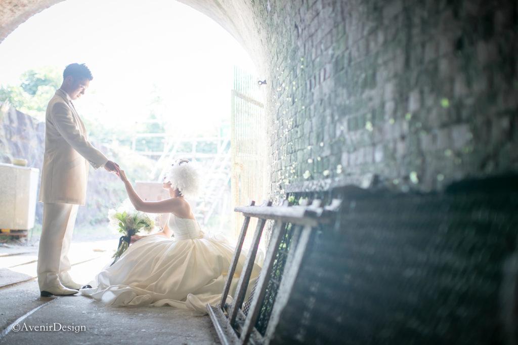 荒尾の万田坑|結婚式前撮り写真