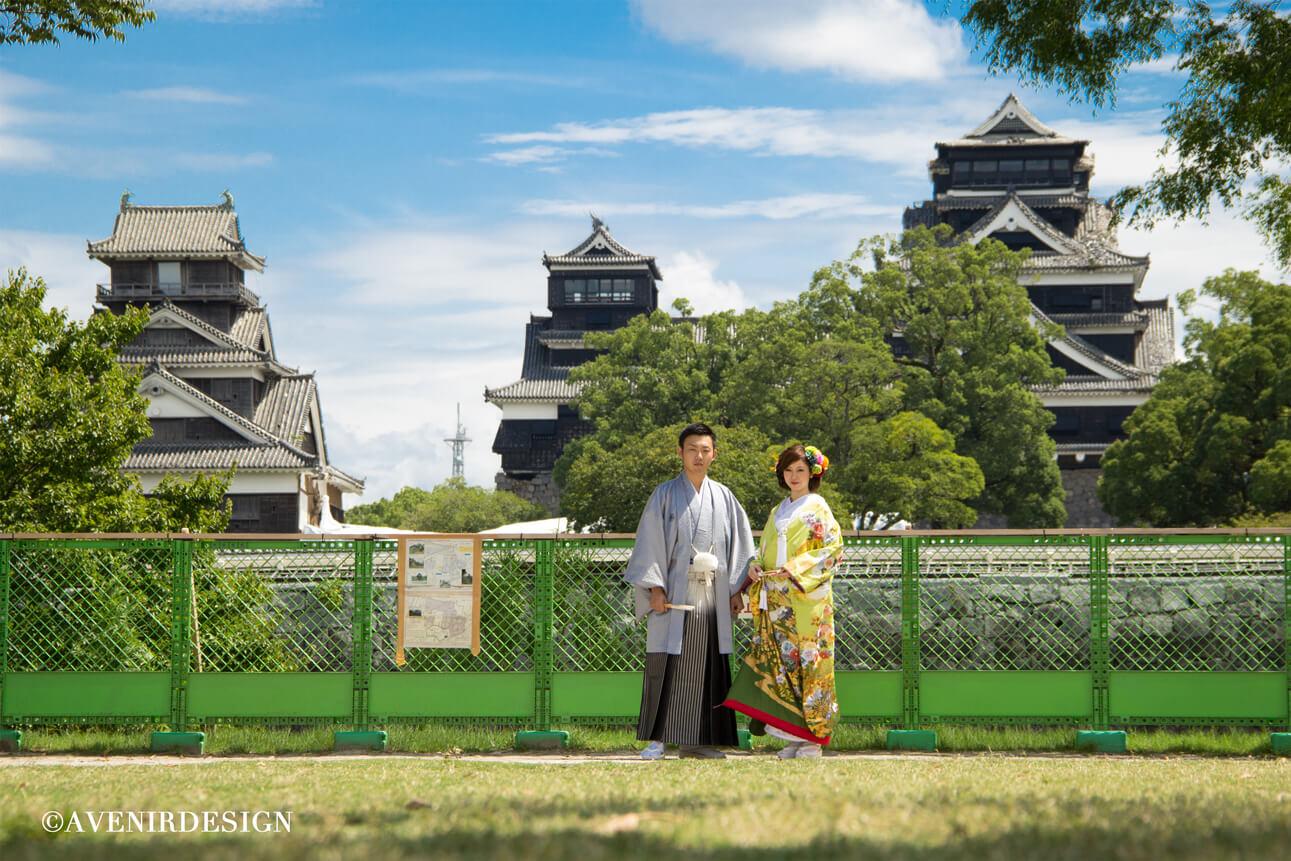 熊本城の前撮りプラン|和装のフォトウェディングで人気です☆