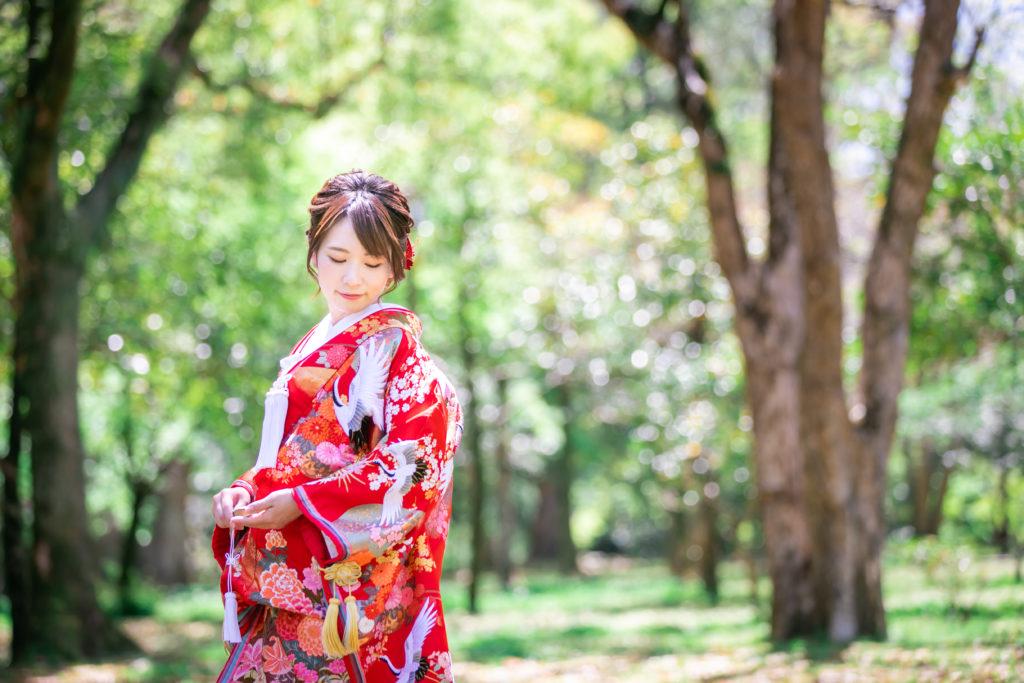 和装前撮り|熊本二の丸公園