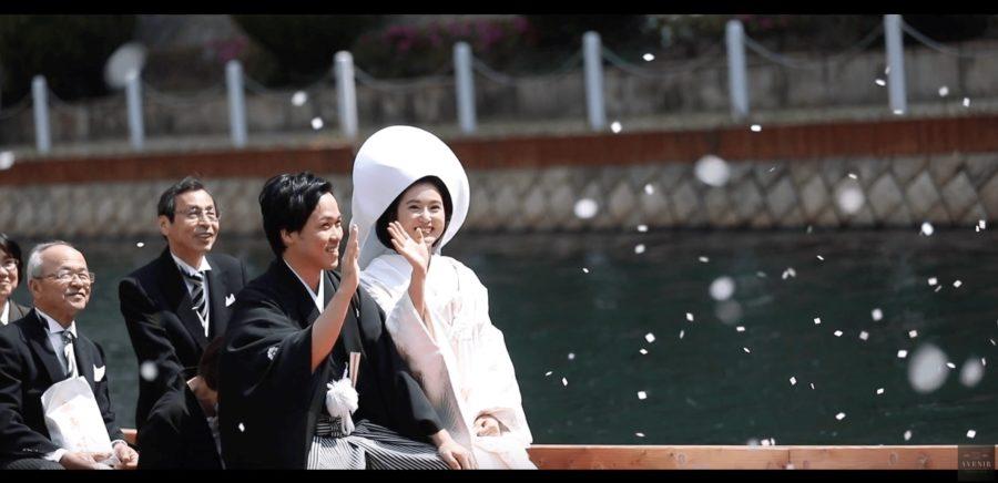 【福岡】櫛田神社で結婚式*人力車と花嫁船のスナップ写真撮影